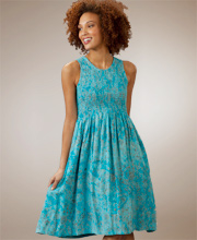 Aqua Batik Sundress