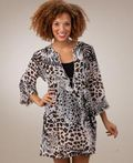Peppermint Bay White Leopard Tunic