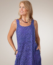 Dewberry Sleeveless Batik Dress