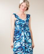 Peppermint Bay Blue Crystalline Maxi Dress
