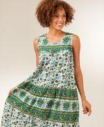La Cera Newport Green Sleeveless Dress