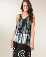 Jessica Taylor Black Tie-Dye Beach Cover Up