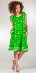Cotton-Knit-Dress-La-Cera-Crystal-Clear-Green-2510-1121-B