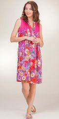 Sleeveless-Short-Pleated-Sundress-La-Cera-Pink-Vision-2159-210-B