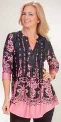 Poly-Blend-Tunic-Top-La-Cera-Ethereal-Pink-5883-B