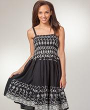 Adjustable-Strap-Dress-Sparkling-Black-2056-A