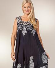 Long-Sleeveless-Beach-Dress-Dotted-Navy-1463-A (1)