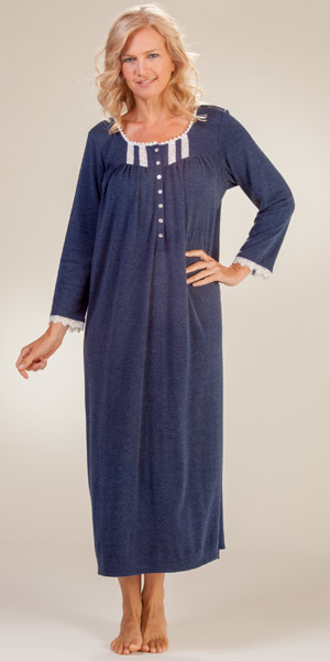 Eileen-West-Long-Sleeve-Cotton-Poly-Nightgown-Warm-Dusk-E5216081-413-B