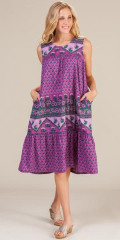 Cotton-Sleeveless-Muu-Muu-Dress-La-Cera-Plum-Daisy-2201-455-B