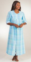 Long-Seersucker-Robe-Miss-Elaine-Blue-Plaid-869636-947-B