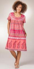 Muu-Muu-Dress-La-Cera-Floral-Coral-2167-328-B