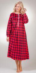 Round-Neckline-Fleece-Nightgown-Lanz-Crimson-Check-CL5216815-643-B