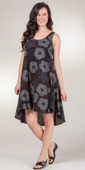 Sleeveless-Cotton-Dress-I-Can-Too-Black-Sea-Scrolls-HT-6960-B