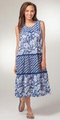 Sleeveless-Cotton-House-Dress-La-Cera-Flower-Showers-2201-1226-B