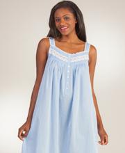 Eileen-West-Sleeveless-Long-Cotton-Nightgown-Lucky-Blue-E5216048-422-A