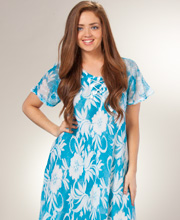 Cap-Sleeve-Beach-Dress-Blue-Blooms-13520-A