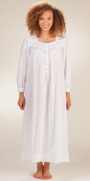 Eileen-West-Long-Sleeve-Cotton-Nightgown-White-Majesty-E5016071-100-B