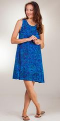 Sleeveless-Short-Keyhole-Dress-Eagle-Ray-Indigo-Splash-RM-007-B