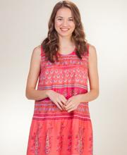Cotton-Dress-La-Cera-Floral-Coral-2201-328-A