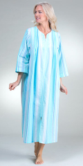 Long-Seersucker-Robe-Miss-Elaine-Aqua-Blue-Stripe-863608-972-B