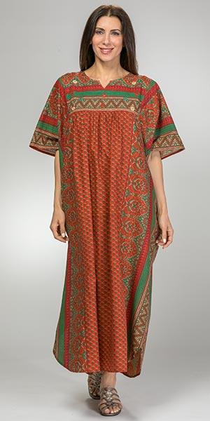 Long-Cotton-Kaftan-La-Cera-Tawny-Bouquet-3004-651RUS-B