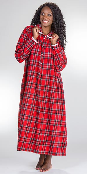 Flannel-Peter-Pan-Nightgown-Lanz-Red-Plaid-CL5616828-644-B