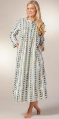 Pintucked-Nightgown-La-Cera-Cozy-Lodge-13601-429-B