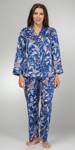 Brushed-Back-Satin-Pajamas-Miss-Elaine-Navy-Paisley-406169-430-B