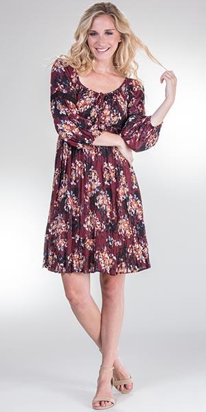 Long-Sleeve-Dress-Nostalgia-Maroon-Floral-N1102-FL39-B