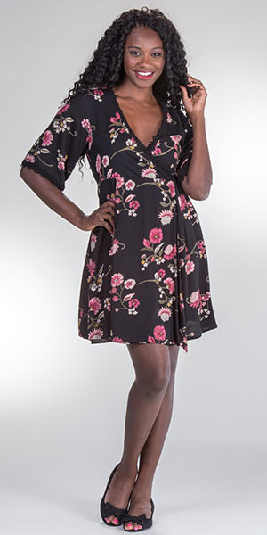 Nostalgia-Faux-Wrap-Rayon-Dress-Mauve-Floral-N4744-MW71-B